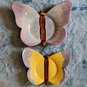 Set of TWO Butterfly 🦋 Yankee Candle Holders